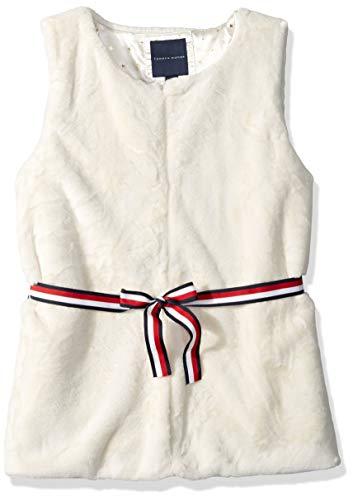 Tommy Hilfiger Big Girls' Faux Fur Vest, egret Cream