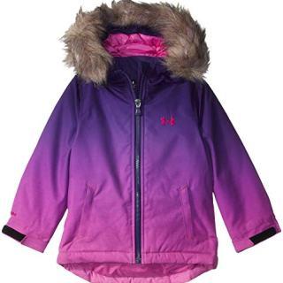 Under Armour Girls' Big ColdGear Snorkle Jacket, Flour Fuchsia Laila