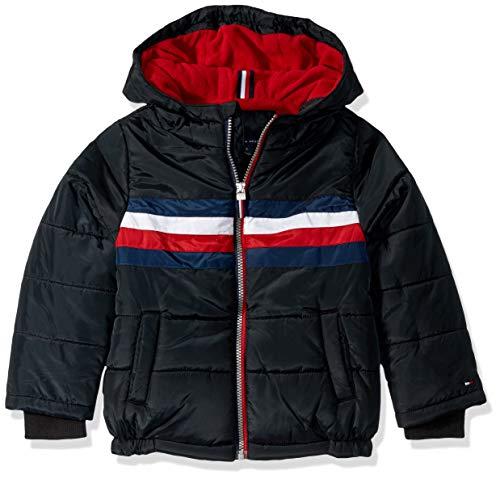Tommy Hilfiger Boys' Big Logan Jacket, Black