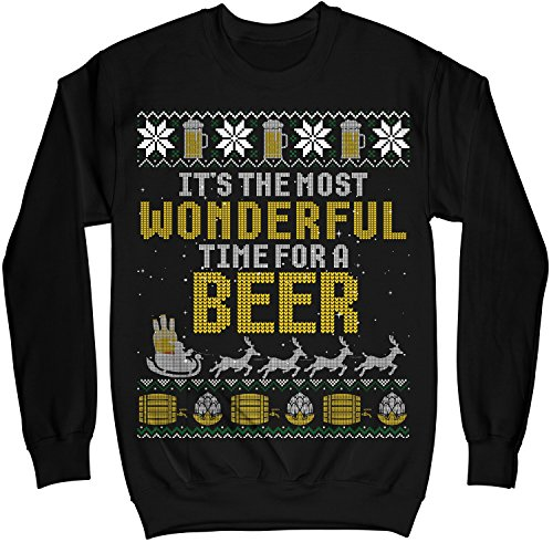 MIK Apparel It's The Most Wonderful Time For A Beer Ugly Christmas