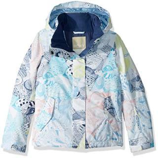 Roxy Little Jetty Girl Snow Jacket, Bright White