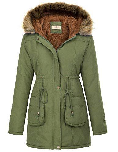 GRACE KARIN Women's Winter Warm Thicken Jacket Hooded Parka