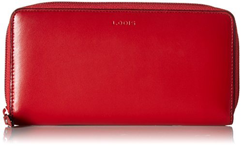 Lodis Audrey RFID Perla Zip Wallet, Red/Black