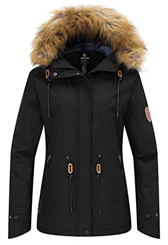 Wantdo Women's Skiing Jacket Waterproof Coat Windproof