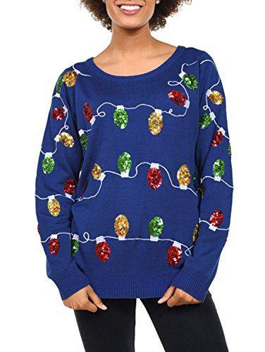 Tipsy Elves Women's Christmas Lights Sweater