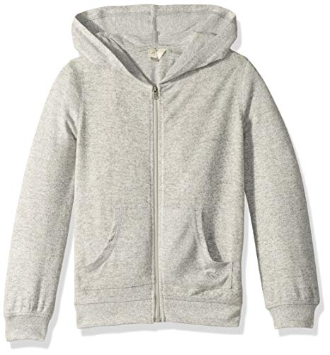 ROXY Girls' Big Nature Zip Up Fleece Top, Heritage Heather