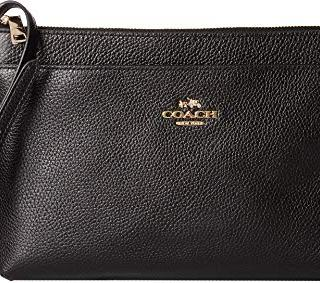 COACH Women's Polished Pebble Journal Crossbody Li/Black One Size