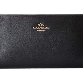 COACH Women's Smooth Leather Skinny Wallet Li/Black One Size