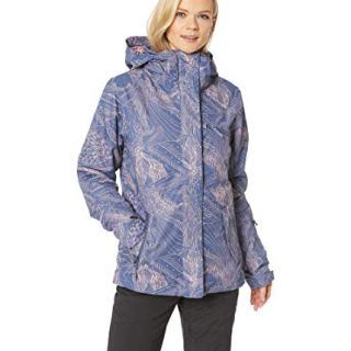 Roxy Women's Jetty 10K Jacket Crown Blue Queen Motif Medium