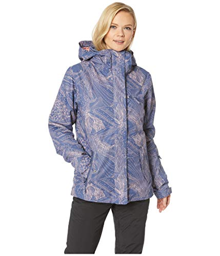 Roxy Women's Jetty 10K Jacket Crown Blue Queen Motif Medium