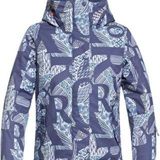ROXY Little Jetty Girl Snow Jacket, Crown Blue