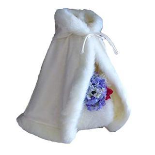 Lemai Baby Flower Girls Hooded Cape Wedding Cloak For Kids