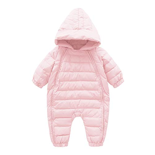 Cnajii Baby Infant Boy Girl Winter Down Romper Warm Hood