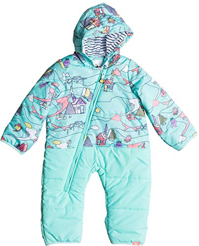 Roxy Girls Baby Rose Little Miss Snow Jumpsuit, Aruba Blue Alpine