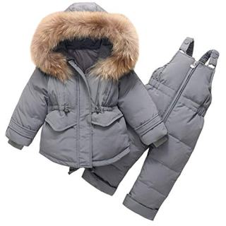 Aablexema Toddler Two Piece Winter Snowsuit