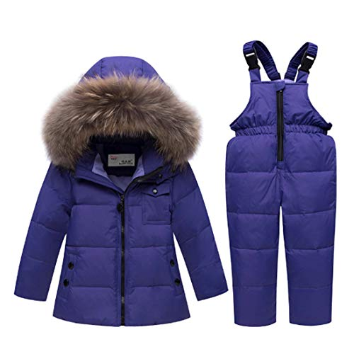 Ding Dong Baby Tollder Kid Boy Girl Winter Hooded Fur Down Parka Puffer