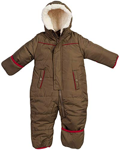 Ben Sherman Baby Boys Bubble Snowsuit Pram with Sherpa Hood