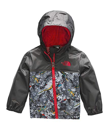 The North Face Infant Zipline Rain Jacket, Graphite Grey Lizard Rock Print