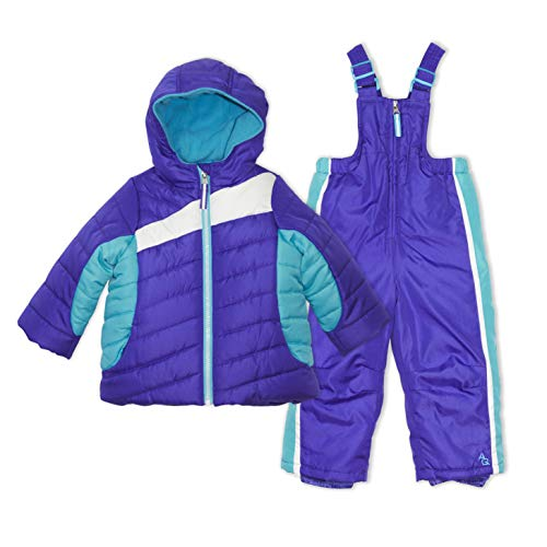 Arctic Quest Toddler Girls Color Block Fleece Lined Hood and Snow