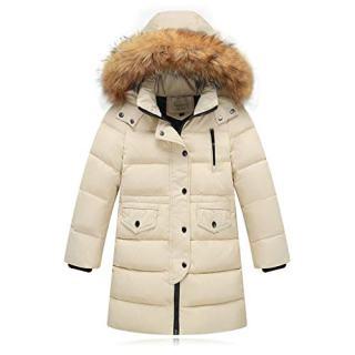 Lucoo Girl's Coat,Kids Girls Winter Faux Fur Hooded Parka Down Coat