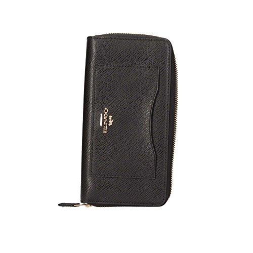 Coach Crossgrain Leather Accordion Zip Wallet