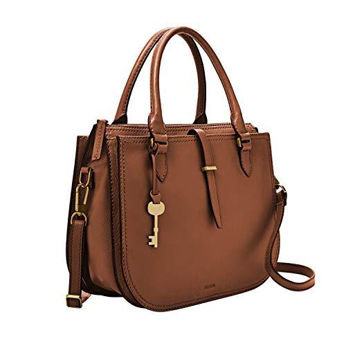 Fossil Women's Ryder Leather Satchel Handbag, Brown