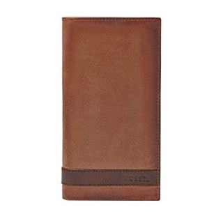 Fossil Men's Quinn Leather Executive Wallet, Brown