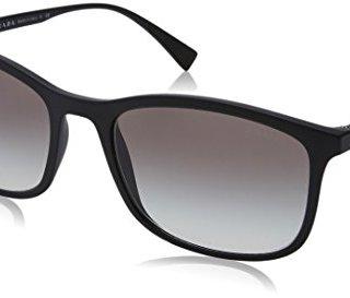 Prada Sport Black Rubber Rectangle Sunglasses Lens Categor