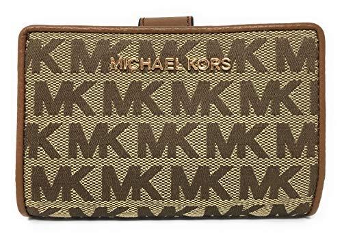 Michael Kors Jet Set Travel Bifold Zip Coin Monogram Wallet