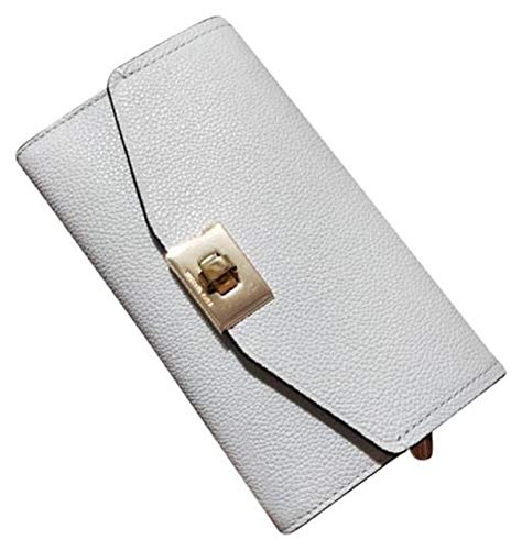 Michael Kors Cassie Large Trifold Wallet White Leather
