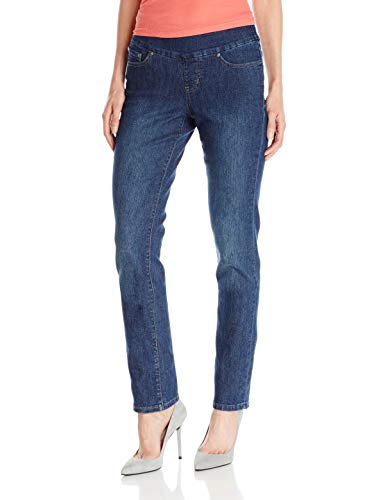 Jag Jeans Women's Peri Pull On Straight Leg Jean, Anchor Blue