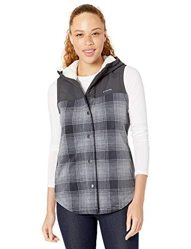 Columbia Women's Plus Size Benton Springs Overlay Vest, Chalk Check Print/Shark