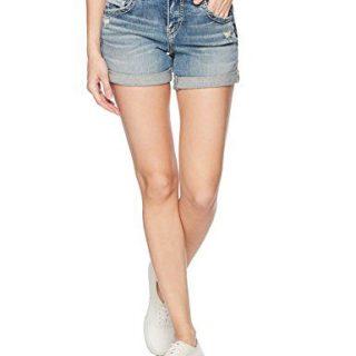 Silver Jeans Co. Women's Sam Mid Rise Boyfriend Shorts
