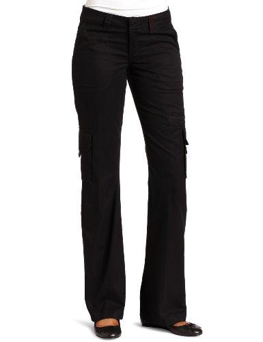 Dickies Women's Relaxed Cargo Pant Rinsed Black