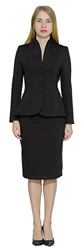 Marycrafts Women's Formal Office Business Work Jacket Skirt Suit Set