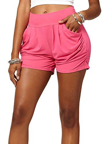 Premium Ultra Soft Harem High Waisted Shorts for Women with Pockets