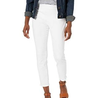 NYDJ Women's Petite Pull ON Skinny Ankle Jean with Side Slit