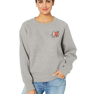 Lacoste Women's L/S Oversized Keith Haring Sweatshirt, Silver Chine