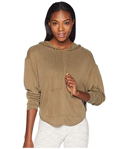 Free People FP Movement Back into It Hoodie Army MD