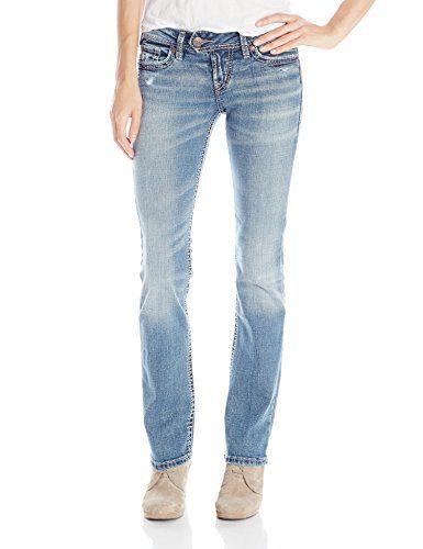 Silver Jeans Women's Tuesday Low Rise Slim Bootcut Jean