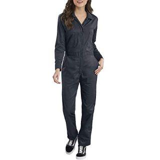 Dickies Women's Long Sleeve Cotton Twill Coverall, Dark Navy, Medium
