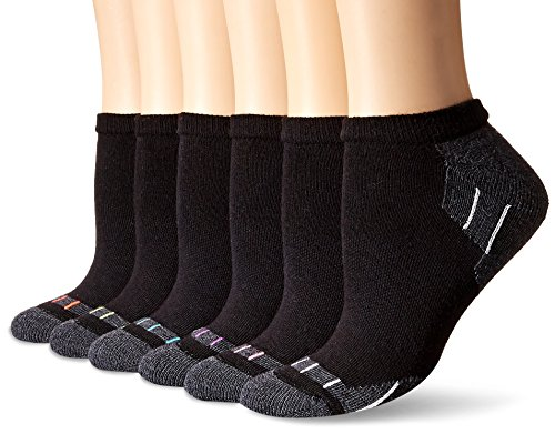 Hanes Plus Size Women's 6-Pack Sport Cool Comfort No Show