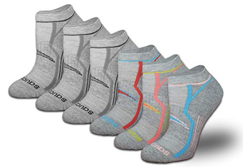 Saucony Women's 6-Pack Performance Comfort Fit No Show Socks