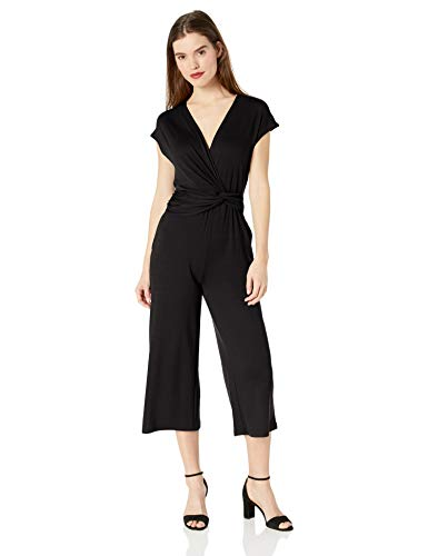 Ella Moss Women's Addison Twist Drape Jumpsuit, Black, Medium