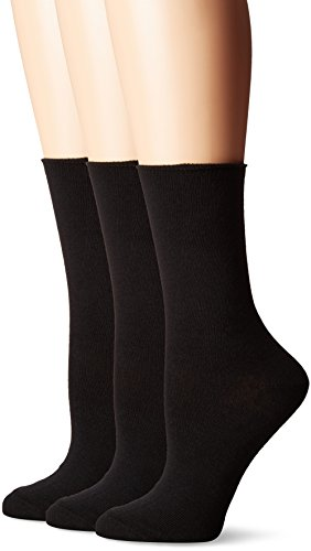 No nonsense Women's Jeans Sock, 3 Pair Pack, Solid Black