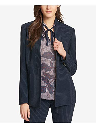 Tommy Hilfiger Womens Pinstripe Business Blazer Navy
