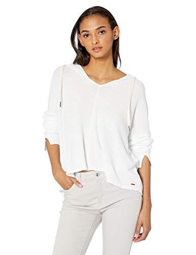 n:PHILANTHROPY Women's Casual Sweatshirt, White Blues, Small