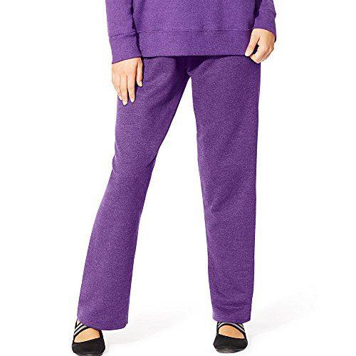 Just My Size Women's Plus-Size Fleece Sweatpant, Violet Splendor Heather
