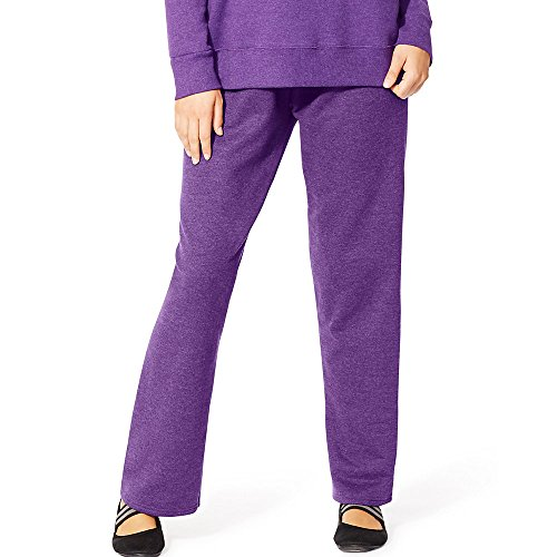 Just My Size Women's Plus-Size Fleece Sweatpant, Violet Splendor Heather