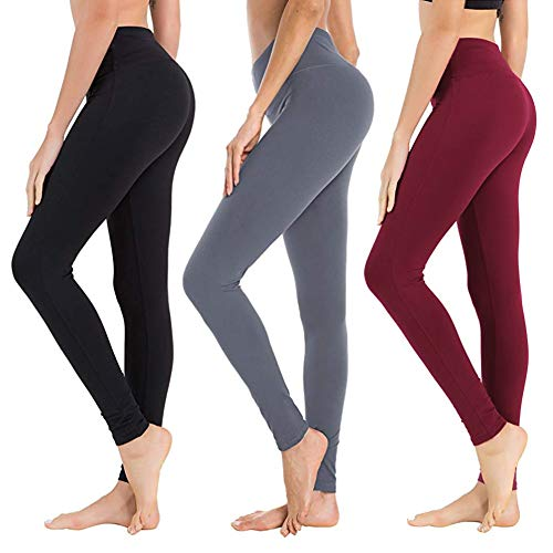 High Waisted Leggings for Women - Soft Athletic Tummy Control Pants